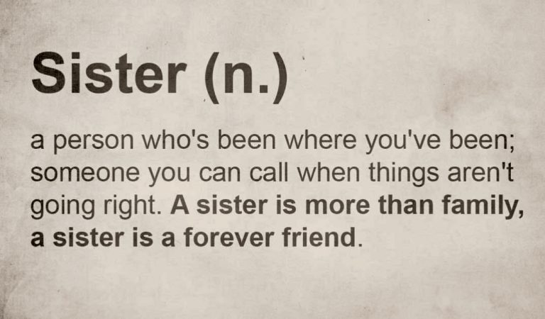 3 reasons why having a big sister is a real blessing.